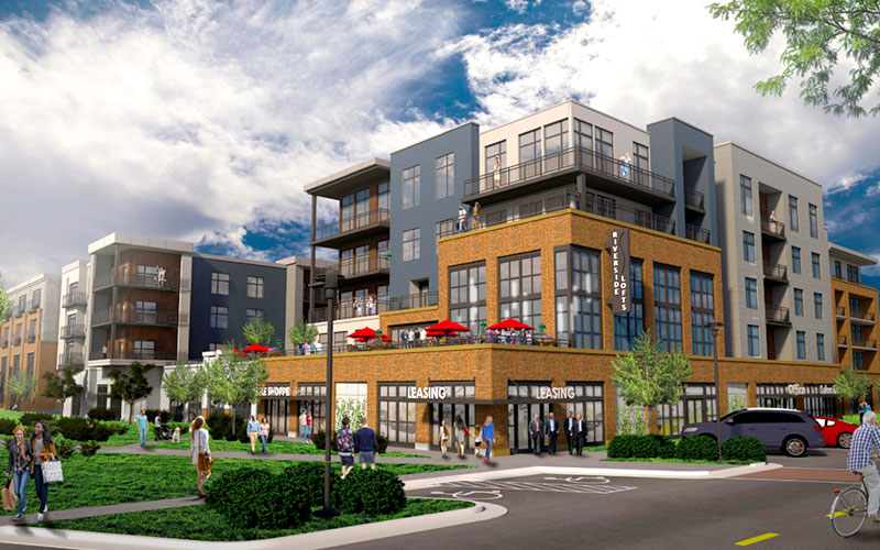 A rendering of the Delano Catalyst Apartment complex in Wichita, Kansas.