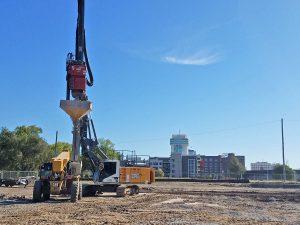 The Delano Catalyst Apartment complex construction sitein Wichita, Kansas.
